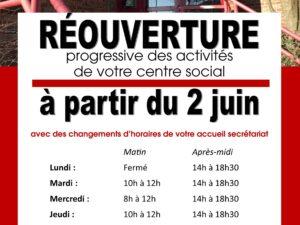 Réouverture des activités du centre social